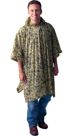 Impermeable Poncho Texsport Camouflaje Verde
