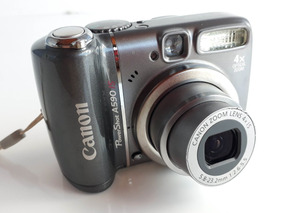 Câmera Digital Canon Powershot A590is 8mp Zoom Óptico 4x