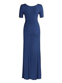7bc1809f6 Vestido Azul Marino Para Embarazada en Mercado Libre México