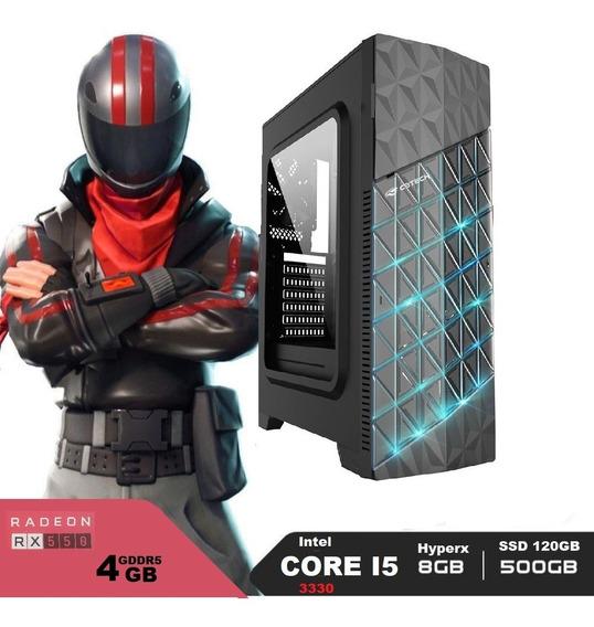 Pc Gamer I5, Ssd 120gb, Hd 500, 8gb, Rx 550 4gb