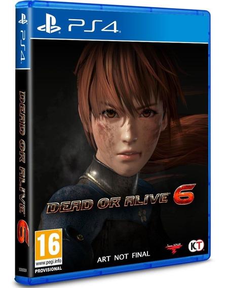 Game Dead Or Alive 6 Ps4 Disco Fisico Novo Original Oferta