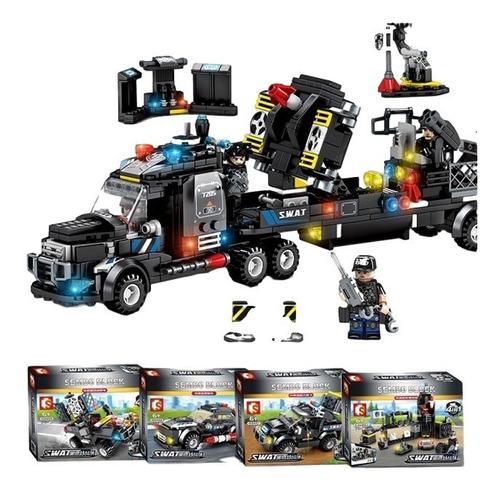 Juego De Bloques Tipo Lego Swat Policia