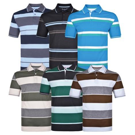 Kit 3 Camisas Polo Masculina Vilejack / Cores Sortidas
