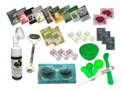 Imagen 1 de 2 de Mochila Kit Skin Care / Mascarillas, Parches Y Rodillo M1