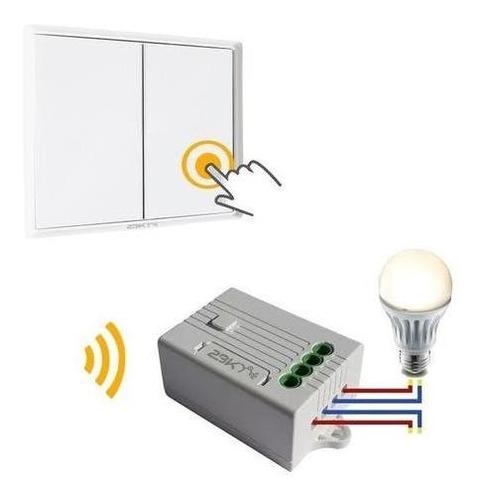 Llave De Luz 2 Puntos Inalambrica + 2 Interruptores No Wifi