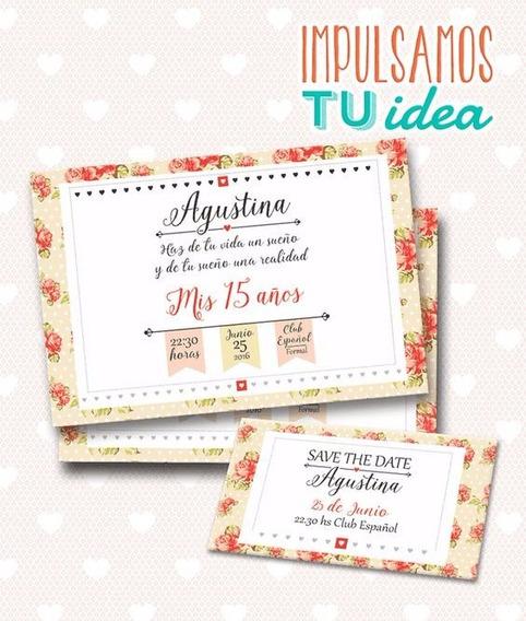 Tarjeta De Quince - Invitación Cumple De 15 Para Imprimir