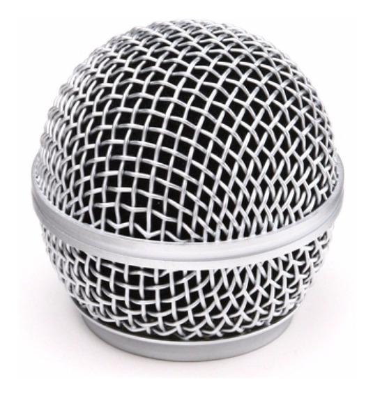 Globo Metálico Para Microfone Linhas Sm58-p4 E Plus Leson