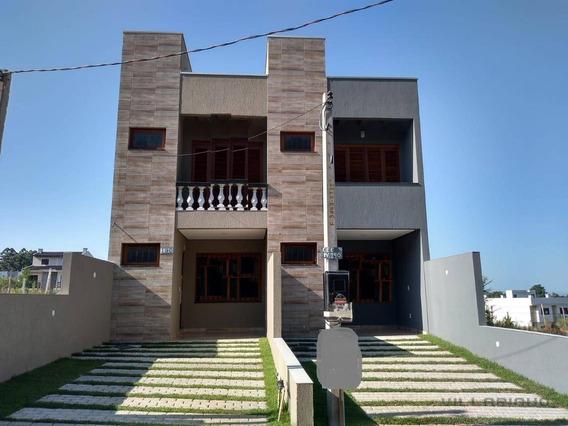 Villarinho Imóveis Vende Casa Nova- 2 Suítes- 98 M² Por R$ 380.000 - Portal Do Guarujá - Porto Alegre/rs - Ca0552