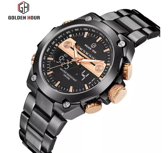 Relógio De Luxo Golden Hour Para Homens De Bom Gosto