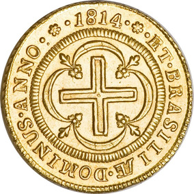 Moeda De Ouro D. Pedro I 4000 Reis 1814 24 K