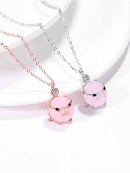 Collar Puerquito Dije Cerdito Kawaii Mini Pig Cochinito