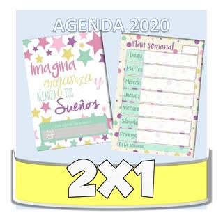 Kit Imprimible Agenda Pdf Profesores 2020+ 2x1