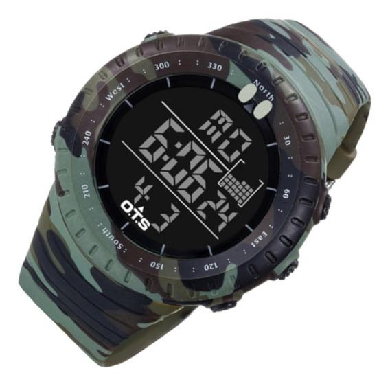 Relógio Masculin Ots 7005 Res Água Cam Super Promo 12 Vezes