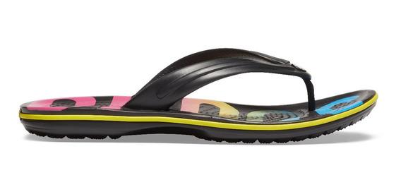 Sandalia Unisex Crocs Crocband Printed Flip Multicolor