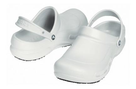Zapato Doctores, Chefs Dentistas, Crocs Bistro Blanco Unisex