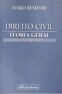 Livro Direito Civil Teoria Geral Segundo Semestre Mario Benh