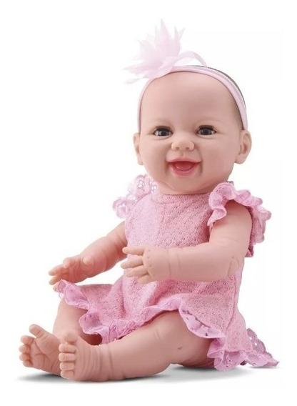 Boneca Bebê Estilo Reborn Menina Dengo 8076 Abre Os Olhos