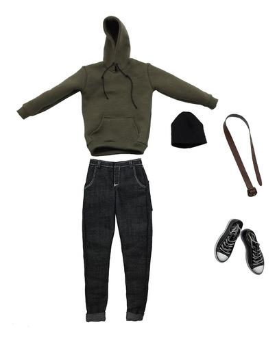 Imagen 1 de 6 de 1/6 Escala Para Hombre Ropa Ejército Verde Sudadera Con