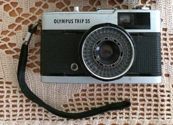 Máquina Fotográfica Olympus Trip 35, Revisada E Funcionando.