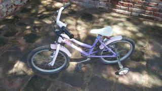 Bicleta Tomasselli Lady Rodado 16, Con Rueditas