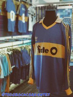 Camiseta Retro Fate O Boca Juniors Mangas Largas