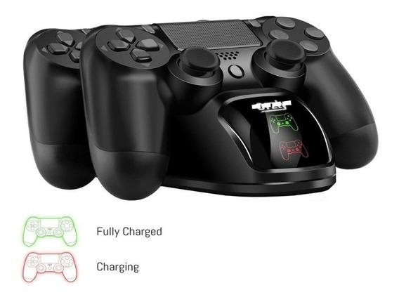 Base Cargador Joystick Ps4 Doble Accesorio Control Play