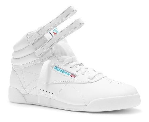Tenis Reebok Mujer Blancos Clasicos Free Style 50141
