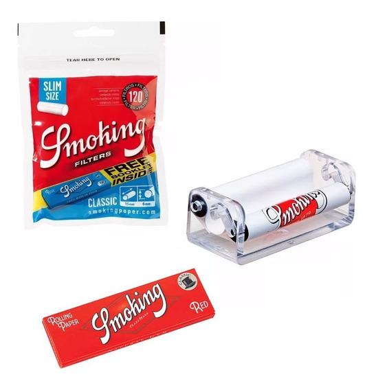 Combo Maquina Armar Cigarrillo Smoking Papelillo Filtro Once