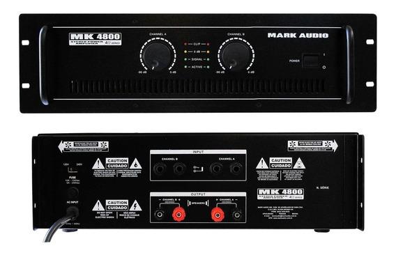 Amplificador Mark Áudio Mk 4800 - 800 Watts C/nf Mk4800