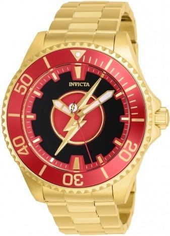 Espetacular Relógio Invicta Dc Flash Gold Automatic 26905