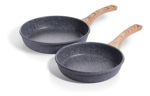 Maestro De Cocina - Set X2 Granito Sartenes 20 & 24cm