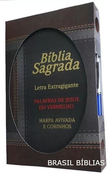Bíblia Sagrada Letra Extra Gigante Harpa Palavras Jesus Em V