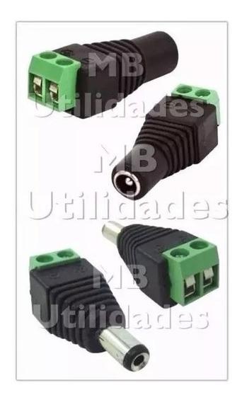 Kit 10 P4 Macho Borne + 10 P4 Femea Borne - Conector Cftv