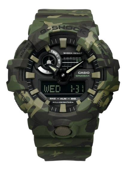 Relógio Casio G-shock Ga 700cm 3a Camuflado Lançamento