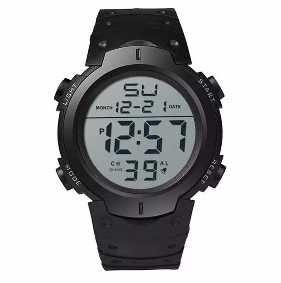 Relógio Esportivo Digital Led Masculino Preto