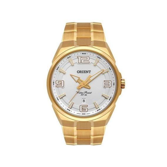 Relógio Orient Masculino Dourado Mgss1162 S2kx