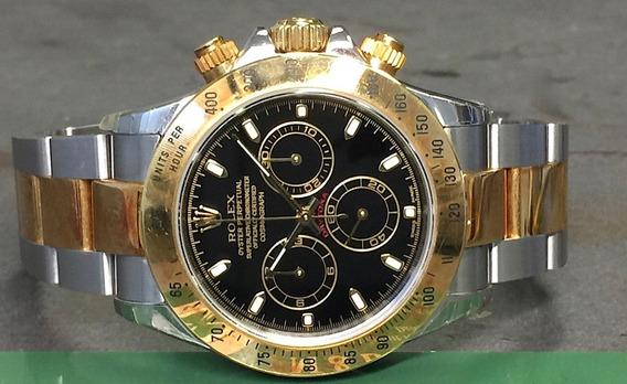Rolex Daytona 40mm Cosmograph Reloj 18k Oro/acero Ref 116523