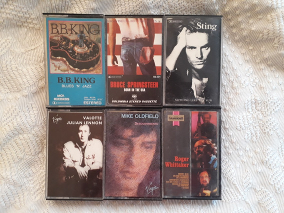 Cassete De Solistas Rock Sting B B King Springsteen Lennon