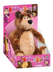 Boneco Urso Pelúcia - Masha E O Urso - Estrela