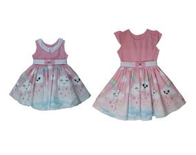 Kit Com 2 Vestidos Infantis De Chuva De Amor Frete Grátis