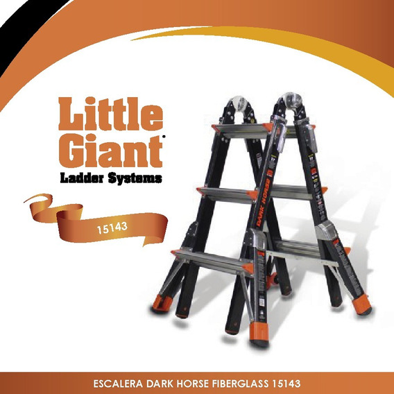 Escalera Dark Horse Fiberglass 13 Little Giant 15143 + Envío