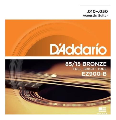 Encordoamento Corda Daddario 010 Violão Folk Aço Original