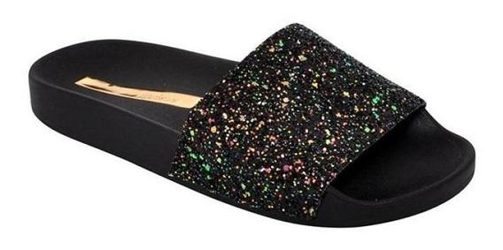 Chinelo Moleca Maxxi Glitter Glamour / Multi Preto