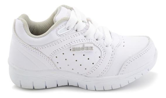 Zapato Escolar Coqueta Para Niño 154535-b Blanco [cta543]