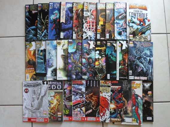 Lote 30 Hqs Marvel H. Aranha X-men Outros Panini (black F.)