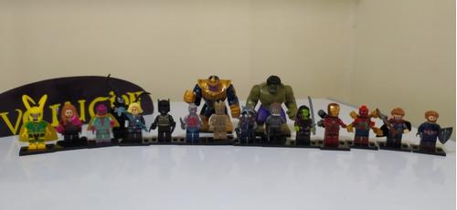16 Legos Avengers Hulk Capitan America  Iron Man Spiderman