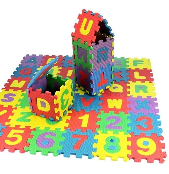 Tapete De Atividades Educativo Infantil 36 Peças Colorido