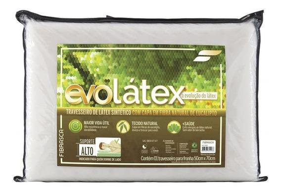 Travesseiro Látex Evolátex Alto Fibrasca 16 Cm - Full