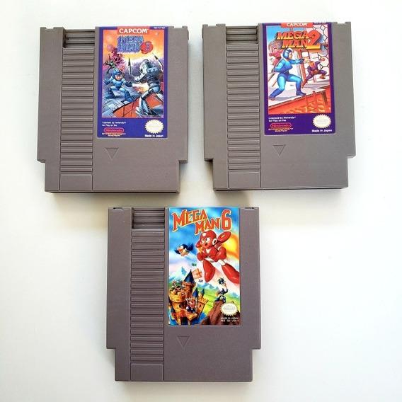 Lote Mega Man 2 3 6 Original Nes Nintendinho