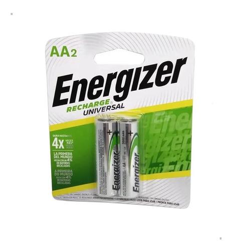 Pilas Recargables Doble A Energizer Aa 2000 Mah Blister X2